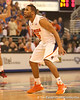 photo by Tim Casey<br /> <br /> Florida senior guard Walter Hodge presses on defense during first half of the Gators' 80-65 win against the Arkansas Razorback on Saturday, January 17, 2009 at the Stephen C. O'Connell Center in Gainesville, Fla.