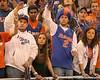 photo by Tim Casey<br /> <br /> Florida fans watch during first half of the Gators' 80-65 win against the Arkansas Razorback on Saturday, January 17, 2009 at the Stephen C. O'Connell Center in Gainesville, Fla.
