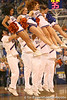 photo by Tim Casey<br /> <br /> Florida cheerleader perform during first half of the Gators' 80-65 win against the Arkansas Razorback on Saturday, January 17, 2009 at the Stephen C. O'Connell Center in Gainesville, Fla.