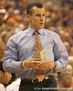 photo by Tim Casey<br /> <br /> Florida head coach Billy Donovan walks along the sideline during first half of the Gators' 80-65 win against the Arkansas Razorbacks on Saturday, January 17, 2009 at the Stephen C. O'Connell Center in Gainesville, Fla.