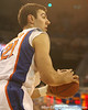 photo by Tim Casey<br /> <br /> Florida junior forward Dan Werner looks to pass during the Gators' 80-65 win against the Arkansas Razorback on on Saturday, January 17, 2009 at the Stephen C. O'Connell Center in Gainesville, Fla.