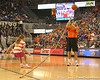 photo by Tim Casey<br /> <br /> Stick Man performs during the Gators' 80-65 win against the Arkansas Razorback on on Saturday, January 17, 2009 at the Stephen C. O'Connell Center in Gainesville, Fla.