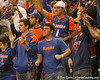photo by Tim Casey<br /> <br /> Florida fans cheer during the Gators' 80-65 win against the Arkansas Razorback on on Saturday, January 17, 2009 at the Stephen C. O'Connell Center in Gainesville, Fla.