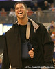 photo by Tim Casey<br /> <br /> Florida junior quarterback Tim Tebow laughs during halftime of the Gators' 80-65 win against the Arkansas Razorback on on Saturday, January 17, 2009 at the Stephen C. O'Connell Center in Gainesville, Fla.