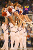 photo by Tim Casey<br /> <br /> Florida cheerleaders perform during first half of the Gators' 80-65 win against the Arkansas Razorback on Saturday, January 17, 2009 at the Stephen C. O'Connell Center in Gainesville, Fla.