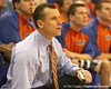 photo by Tim Casey<br /> <br /> Florida head coach Billy Donovan watches a shot during the Gators' 80-65 win against the Arkansas Razorback on on Saturday, January 17, 2009 at the Stephen C. O'Connell Center in Gainesville, Fla.