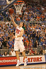 photo by Tim Casey<br /> <br /> Florida sophomore guard/forward Nick Calathes shoots a layup during first half of the Gators' 80-65 win against the Arkansas Razorbacks on Saturday, January 17, 2009 at the Stephen C. O'Connell Center in Gainesville, Fla.