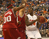 photo by Tim Casey<br /> <br /> Florida freshman forward Allan Chaney begins to shoot during the Gators' 80-65 win against the Arkansas Razorback on on Saturday, January 17, 2009 at the Stephen C. O'Connell Center in Gainesville, Fla.