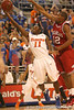 photo by Tim Casey<br /> <br /> Florida freshman guard Erving Walker shoots a layup during first half of the Gators' 80-65 win against the Arkansas Razorbacks on Saturday, January 17, 2009 at the Stephen C. O'Connell Center in Gainesville, Fla.