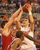 photo by Tim Casey<br /> <br /> Florida sophomore guard/forward Nick Calathes attempts a jump shot during first half of the Gators' 80-65 win against the Arkansas Razorbacks on Saturday, January 17, 2009 at the Stephen C. O'Connell Center in Gainesville, Fla.