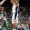 Photo by Tim Darby <br /> <br /> Walter Hodge shoots for three at the University of Florida vs. University of Central Florida Basketball game at the Veterans Memorial Arena in Jacksonville, FL on December 20, 2008.