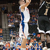 Photo by Tim Darby <br /> <br /> Chandler Parsons shoots a jump shot at the University of Florida vs. University of Central Florida Basketball game at the Veterans Memorial Arena in Jacksonville, FL on December 20, 2008.