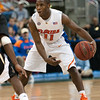 Photo by Tim Darby <br /> <br /> Erving Walker looks to pass at the University of Florida vs. University of Central Florida Basketball game at the Veterans Memorial Arena in Jacksonville, FL on December 20, 2008.