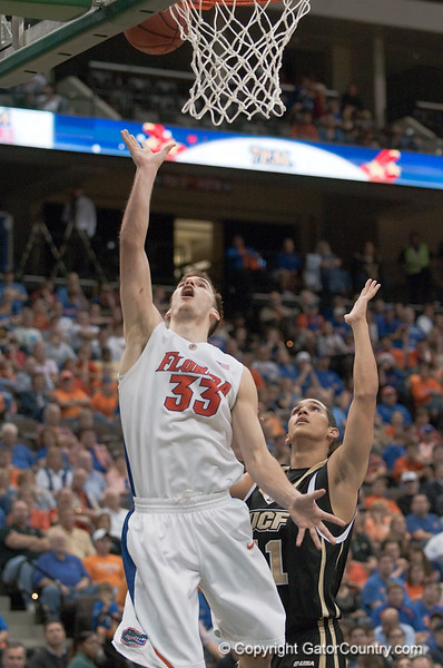 Photo by Tim Darby <br /> <br /> Nick Calathes shoots a layup at the University of Florida vs. University of Central Florida Basketball game at the Veterans Memorial Arena in Jacksonville, FL on December 20, 2008.
