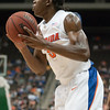 Photo by Tim Darby <br /> <br /> Ray Shipman handles the ball at the University of Florida vs. University of Central Florida Basketball game at the Veterans Memorial Arena in Jacksonville, FL on December 20, 2008.