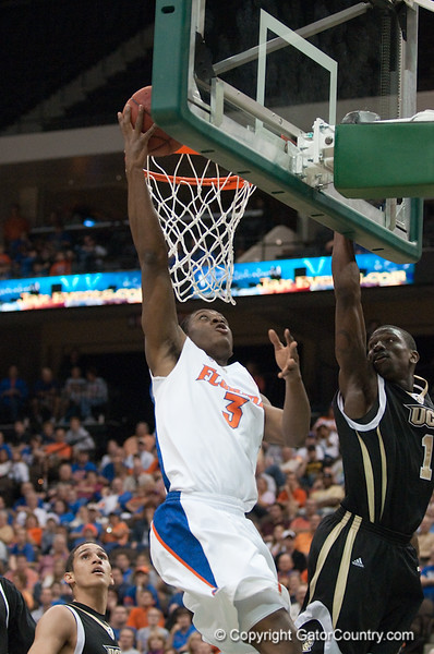 Photo by Tim Darby <br /> <br /> Ray Shipman puts up a layup at the University of Florida vs. University of Central Florida Basketball game at the Veterans Memorial Arena in Jacksonville, FL on December 20, 2008.