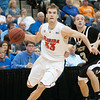 Photo by Tim Darby <br /> <br /> Nick Calathes drives towards the basket at the University of Florida vs. University of Central Florida Basketball game at the Veterans Memorial Arena in Jacksonville, FL on December 20, 2008.