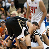 Photo by Tim Darby <br /> <br /> Kenny Kadji grabs a loose ball at the University of Florida vs. University of Central Florida Basketball game at the Veterans Memorial Arena in Jacksonville, FL on December 20, 2008.