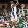 Photo by Tim Darby <br /> <br /> Erving Walker shoots a three-pointer at the University of Florida vs. University of Central Florida Basketball game at the Veterans Memorial Arena in Jacksonville, FL on December 20, 2008.