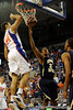 photo by Casey Brooke Lawson<br /> <br /> Florida junior forward Dan Werner scores over Georgia Southern forward Tyler Troupe in the second half. The Gators beat the Eagles 88 to 81 at the O'Connell Center in Gainesville, Fla. on December 22, 2008.