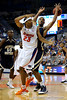 photo by Casey Brooke Lawson<br /> <br /> Florida sophomore forward Alex Tyus loses grip on the ball during the second half of the Gators game against Georgia Southern. The Gators beat the Eagles 88 to 81 at the O'Connell Center in Gainesville, Fla. on December 22, 2008.
