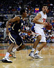 photo by Casey Brooke Lawson<br /> <br /> Florida junior forward Dan Werner moves the ball past a Georgia Southern player in the first half. The Gators beat the Eagles 88 to 81 at the O'Connell Center in Gainesville, Fla. on December 22, 2008