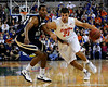 photo by Casey Brooke Lawson<br /> <br /> Florida junior forward Dan Werner moves the ball downcourt in the first half. The Gators beat the Eagles 88 to 81 at the O'Connell Center in Gainesville, Fla. on December 22, 2008