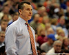 photo by Casey Brooke Lawson<br /> <br /> Florida head coach Billy Donovan looks at his team during the second half of the Gators game against Georgia Souther. The Gators beat the Eagles 88 to 81 at the O'Connell Center in Gainesville, Fla. on December 22, 2008.