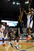 photo by Casey Brooke Lawson<br /> <br /> Florida sophomore forward Alex Tyus scores over a Georgia Southern player in the first half. The Gators beat the Eagles 88 to 81 at the O'Connell Center in Gainesville, Fla. on December 22, 2008