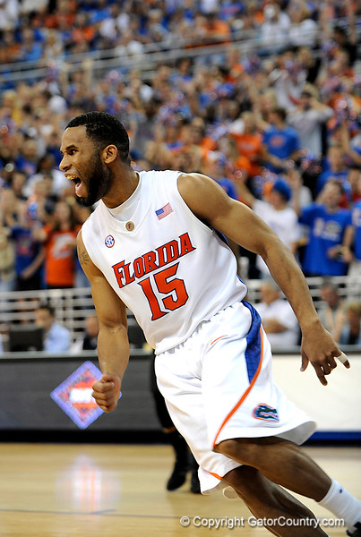 UF guard Walter Hodge scores during the second half of the Florida Gators' game against the Miami Hurricanes on Friday, March 20, 2009 in Gainesville, Fla. / Gator Country photo by Casey Brooke Lawson
