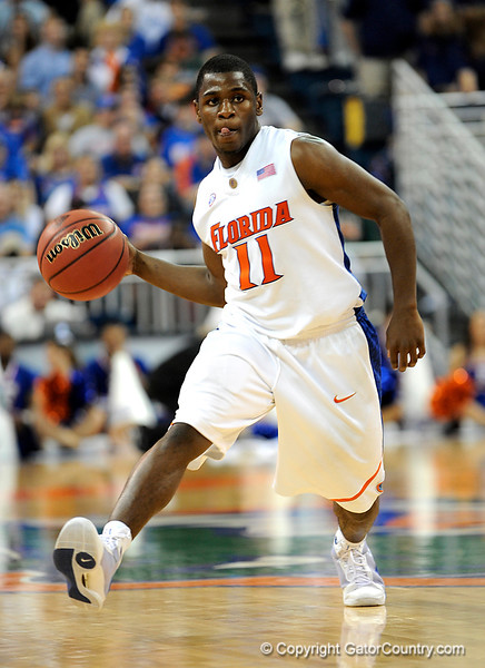 UF guard Erving Walker passes the ball during the second half of the Florida Gators' game against the Miami Hurricanes on Friday, March 20, 2009 in Gainesville, Fla. / Gator Country photo by Casey Brooke Lawson