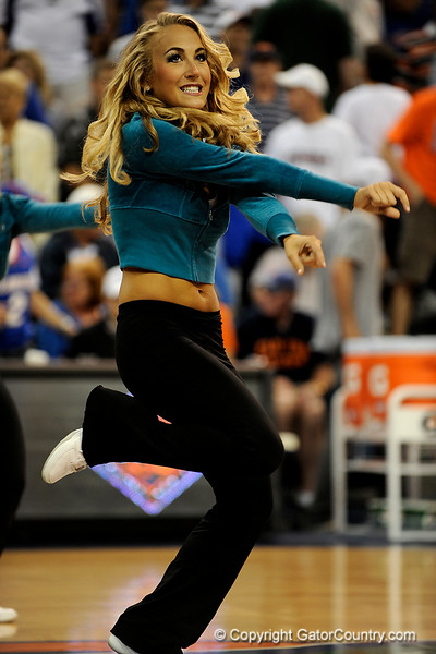 UF Dazzlers perform during the first half of the Florida Gators' game against the Miami Hurricanes on Friday, March 20, 2009 in Gainesville, Fla. / Gator Country photo by Casey Brooke Lawson