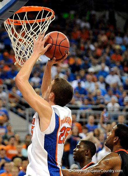 UF forward Chandler Parsons scores during the first half of the Florida Gators' game against the Miami Hurricanes on Friday, March 20, 2009 in Gainesville, Fla. / Gator Country photo by Casey Brooke Lawson