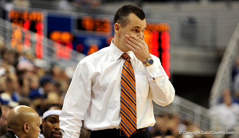 UF Head Coach Billy Donovan watches his team during the second half of the Florida Gators' game against the Miami Hurricanes on Friday, March 20, 2009 in Gainesville, Fla. / Gator Country photo by Casey Brooke Lawson