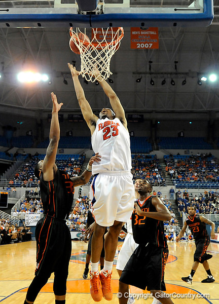 UF forward Alex Tyus scores during the second half of the Florida Gators' game against the Miami Hurricanes on Friday, March 20, 2009 in Gainesville, Fla. / Gator Country photo by Casey Brooke Lawson