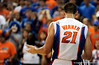 UF forward dan werner disagrees with a referee during the first half of the Florida Gators' game against the Miami Hurricanes on Friday, March 20, 2009 in Gainesville, Fla. / Gator Country photo by Casey Brooke Lawson