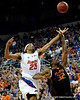 Alex Tyus scores over a Miami player during the second half of the Florida Gators' game against the Miami Hurricanes on Friday, March 20, 2009 in Gainesville, Fla. / Gator Country photo by Casey Brooke Lawson
