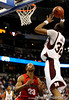 Mississippi State forward Jarvis Varnado scores during the Mississippi Bulldogs 79-60 victory over the University of Georgia Bulldogs on Thursday, March 12, 2009 in the St. Pete Times Forum. / Gator Country photo by Casey Brooke Lawson
