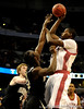 Alabama guard Senario Hillman moves the ball past a Vanderbilt player during the Alabama Crimson Tide 82-75 victory over the Vanderbilt Commodores on Thursday, March 12, 2009 in the St. Pete Times Forum. / Gator Country photo by Casey Brooke Lawson