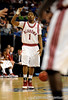 Alabama guard Anthony Brock signals to his teammates during the Alabama Crimson Tide 82-75 victory over the Vanderbilt Commodores on Thursday, March 12, 2009 in the St. Pete Times Forum. / Gator Country photo by Casey Brooke Lawson