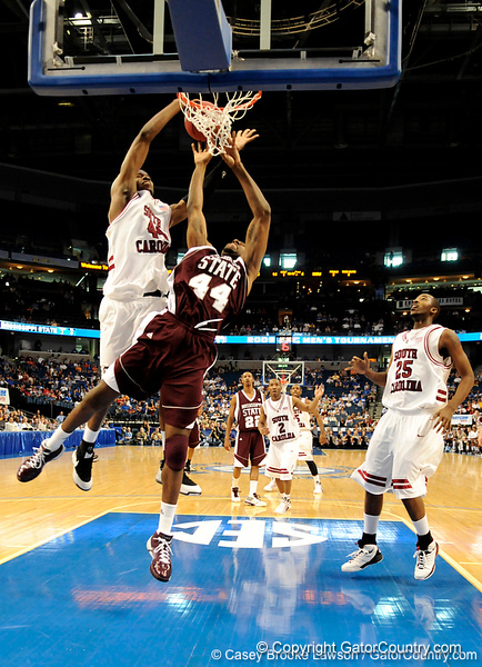 MSU forward Brian Johnson scores during the second half of the Mississippi State Bulldogs 82-68 victory over the South Carolina Gamecocks on Friday, March 13, 2009 in the St. Pete Times Forum. / Gator Country photo by Casey Brooke Lawson
