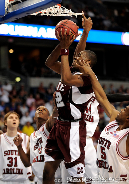 MSU guard barry Stewart grabs the ball during the second half of the Mississippi State Bulldogs 82-68 victory over the South Carolina Gamecocks on Friday, March 13, 2009 in the St. Pete Times Forum. / Gator Country photo by Casey Brooke Lawson