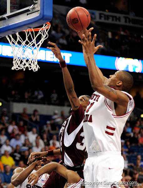 MSU guard Brandon Bolen attempts to block a South Carolina player  during the second half of the Mississippi State Bulldogs 82-68 victory over the South Carolina Gamecocks on Friday, March 13, 2009 in the St. Pete Times Forum. / Gator Country photo by Casey Brooke Lawson