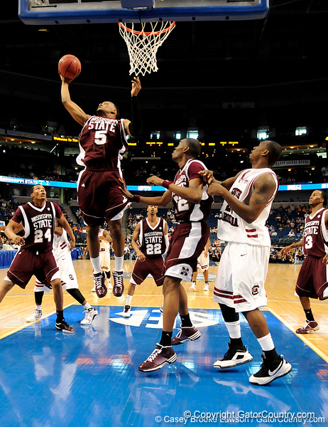MSU forward Romero Osby scores during the second half of the Mississippi State Bulldogs 82-68 victory over the South Carolina Gamecocks on Friday, March 13, 2009 in the St. Pete Times Forum. / Gator Country photo by Casey Brooke Lawson