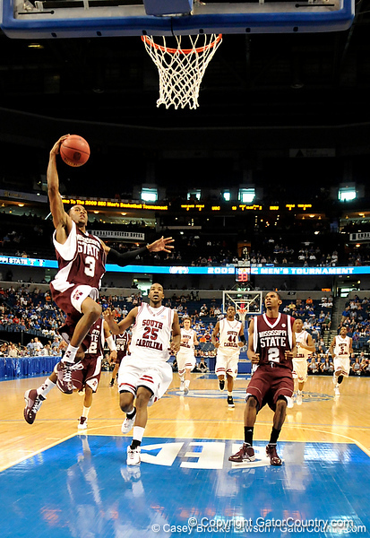 MSU guard Dee Bost scores during the second half of the Mississippi State Bulldogs 82-68 victory over the South Carolina Gamecocks on Friday, March 13, 2009 in the St. Pete Times Forum. / Gator Country photo by Casey Brooke Lawson