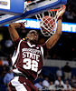 Mississippi State forward Jarvis Varnado scores during the second half of the Mississippi State Bulldogs 82-68 victory over the South Carolina Gamecocks on Friday, March 13, 2009 in the St. Pete Times Forum. / Gator Country photo by Casey Brooke Lawson