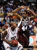 Mississippi State forward Brian Johnson attempts to block a South Carolina player during the first half of the Mississippi State Bulldogs game against the South Carolina Gamecocks on Friday, March 13, 2009 in the St. Pete Times Forum. / Gator Country photo by Casey Brooke Lawson