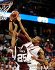 A MSU player grabs the rebound during the first half of the Mississippi State Bulldogs game against the South Carolina Gamecocks on Friday, March 13, 2009 in the St. Pete Times Forum. / Gator Country photo by Casey Brooke Lawson