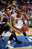 South Carolina guard Devan Downey loses grip on the ball during the first half of the Mississippi State Bulldogs game against the South Carolina Gamecocks on Friday, March 13, 2009 in the St. Pete Times Forum. / Gator Country photo by Casey Brooke Lawson