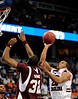 South Carolina guard Zam Fredrick moves the ball past a MSU player during the first half of the Mississippi State Bulldogs game against the South Carolina Gamecocks on Friday, March 13, 2009 in the St. Pete Times Forum. / Gator Country photo by Casey Brooke Lawson